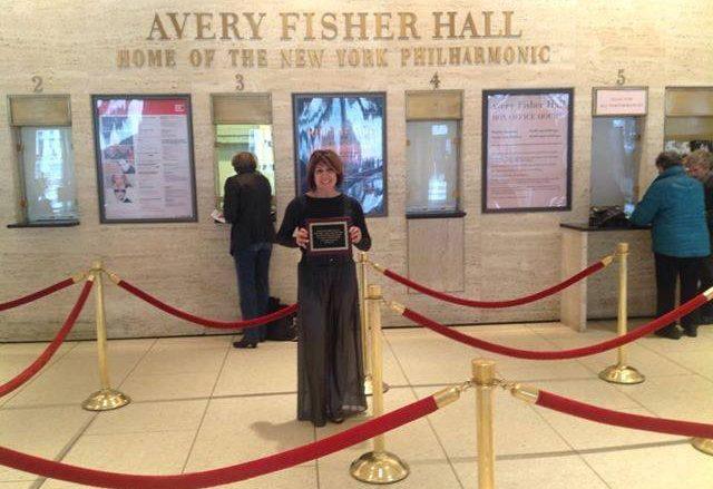 Ronda Barber with Del Kieffner Award